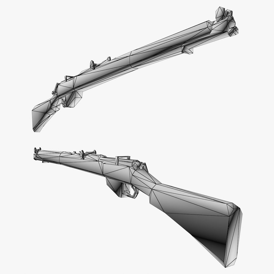 Lee-Enfield Mk3 royalty-free 3d model - Preview no. 5