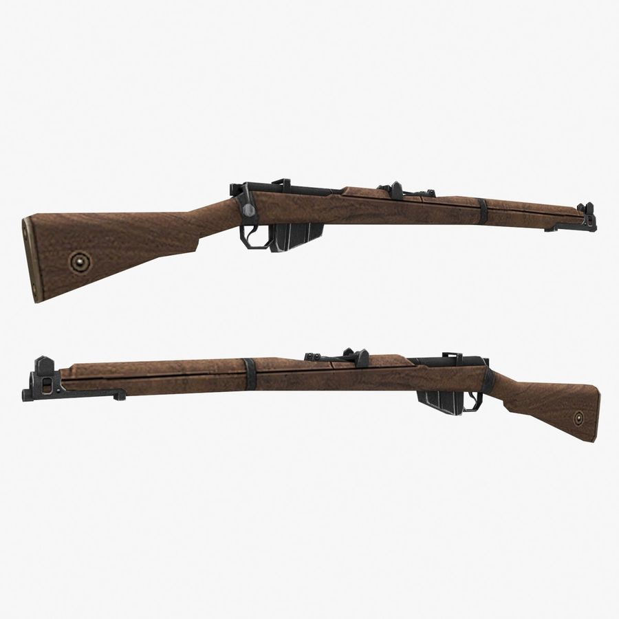 Lee-Enfield Mk3 royalty-free 3d model - Preview no. 2