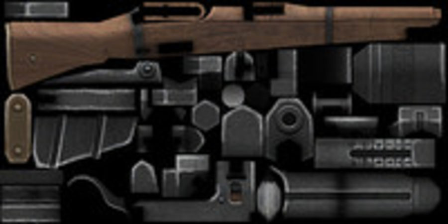 Lee-Enfield Mk3 royalty-free 3d model - Preview no. 14