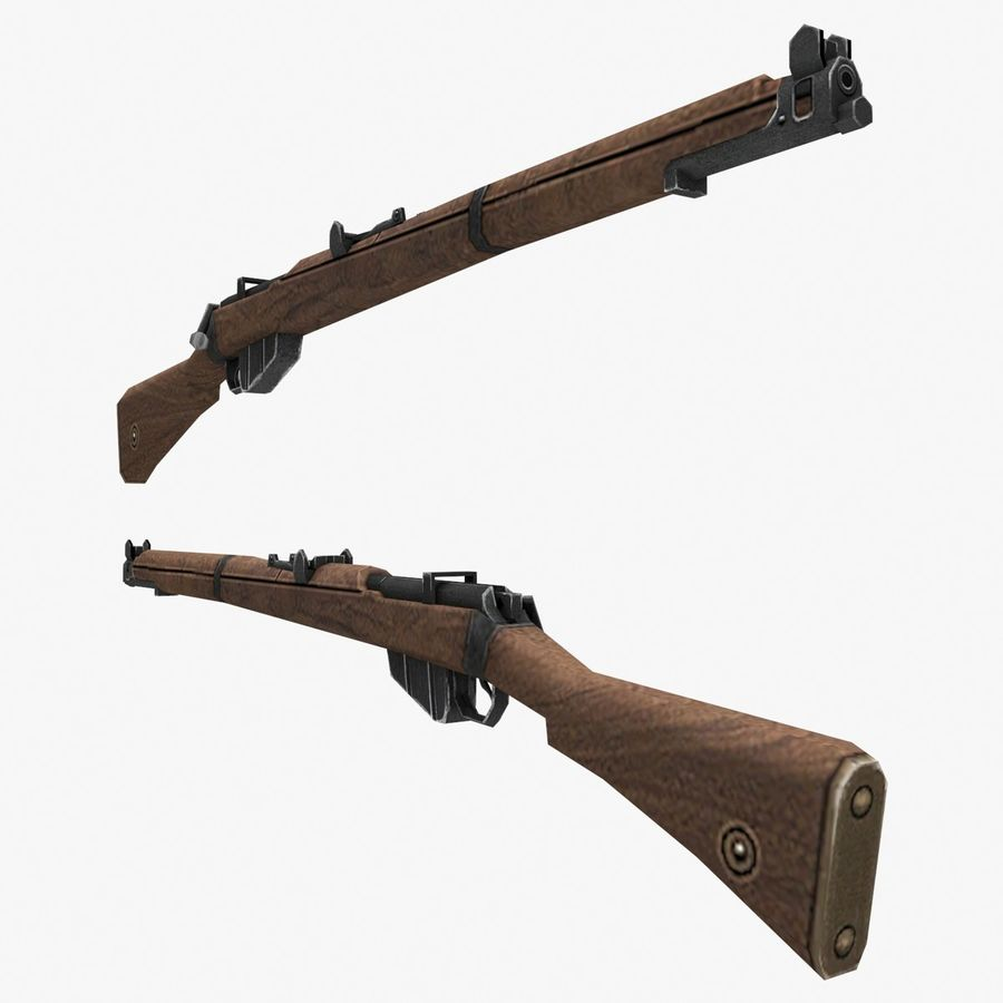 Lee-Enfield Mk3 royalty-free 3d model - Preview no. 4