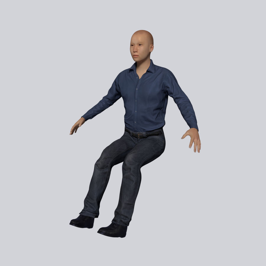 Young Businessman royalty-free 3d model - Preview no. 4