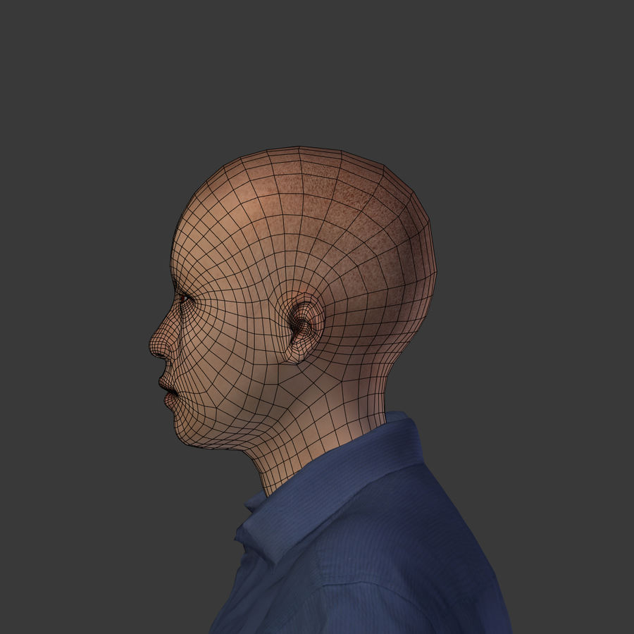 Young Businessman royalty-free 3d model - Preview no. 18