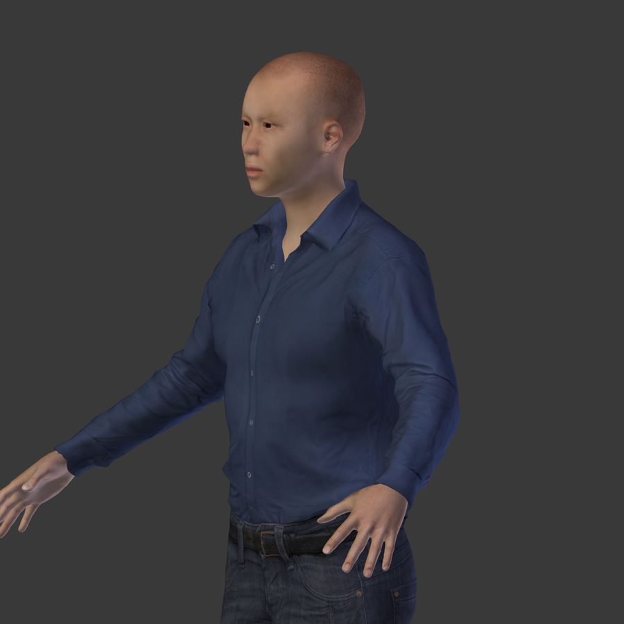 Young Businessman royalty-free 3d model - Preview no. 12