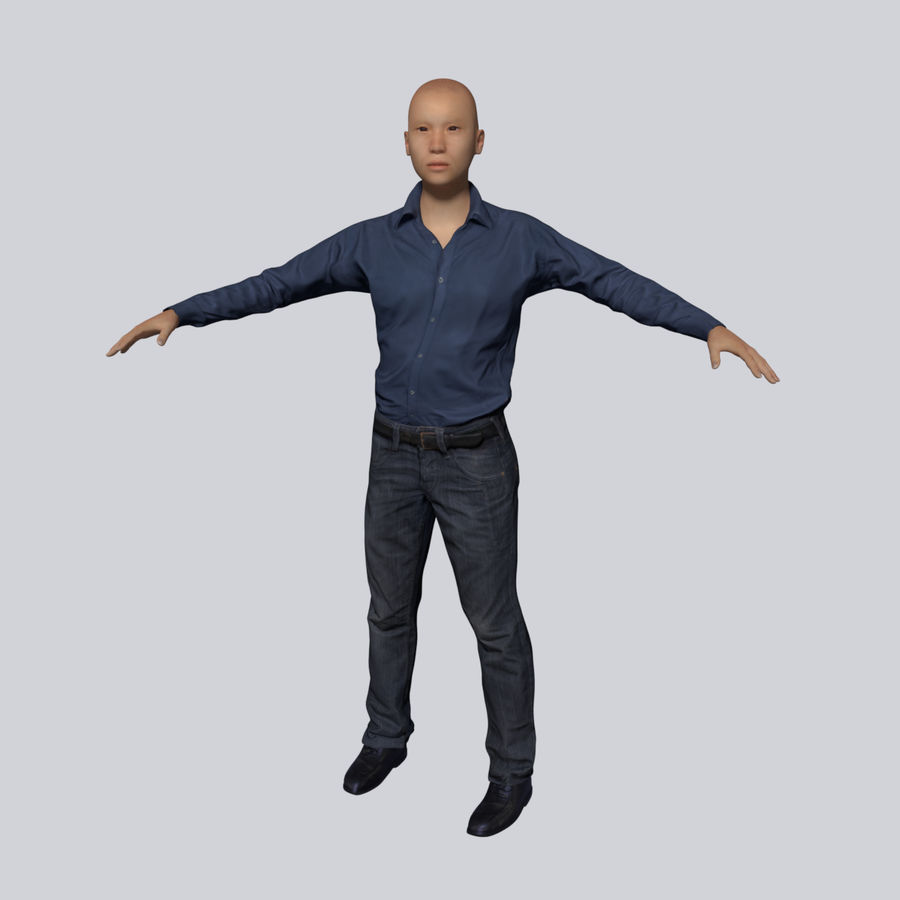 Young Businessman royalty-free 3d model - Preview no. 3