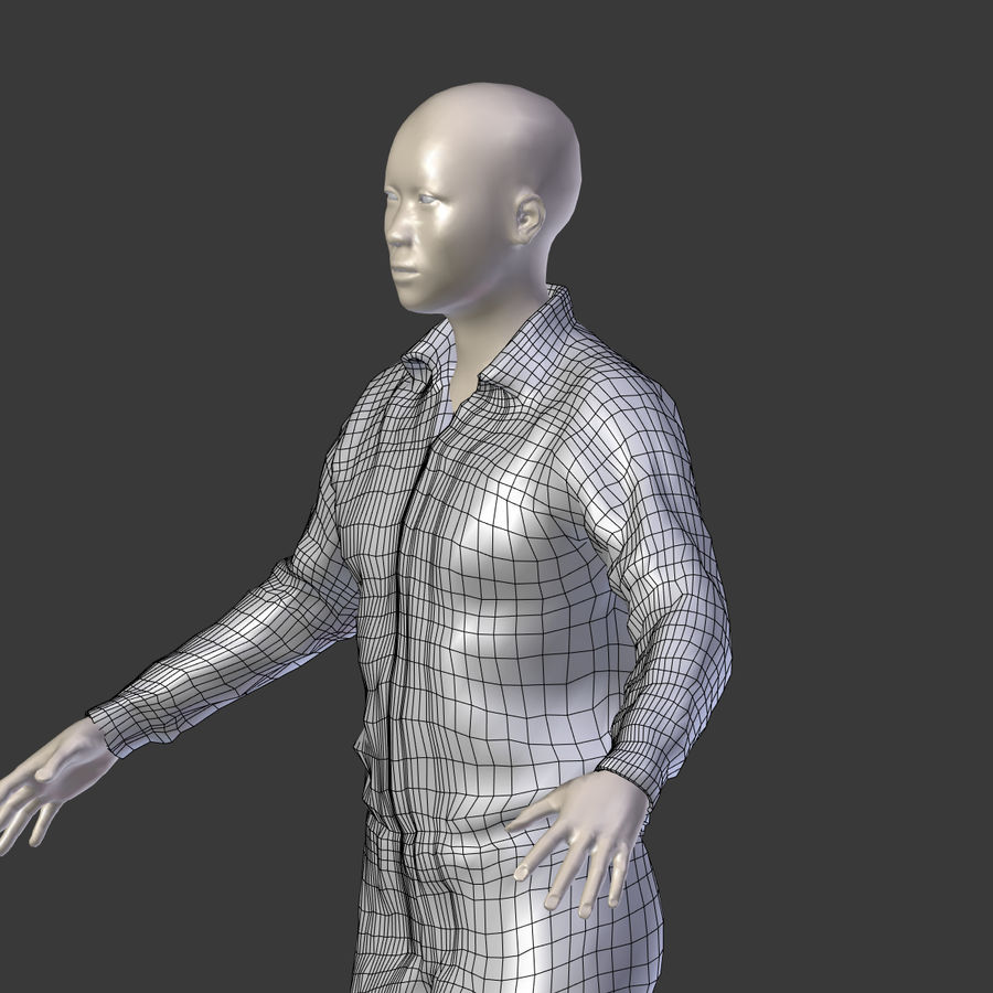 Young Businessman royalty-free 3d model - Preview no. 14