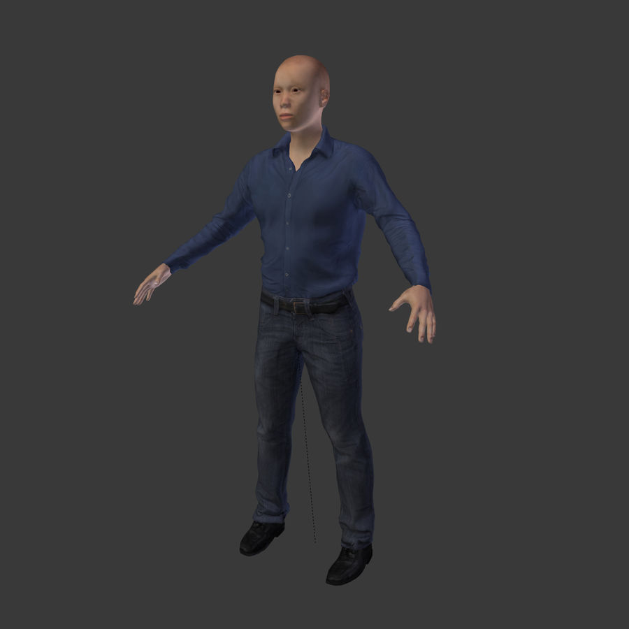 Young Businessman royalty-free 3d model - Preview no. 8