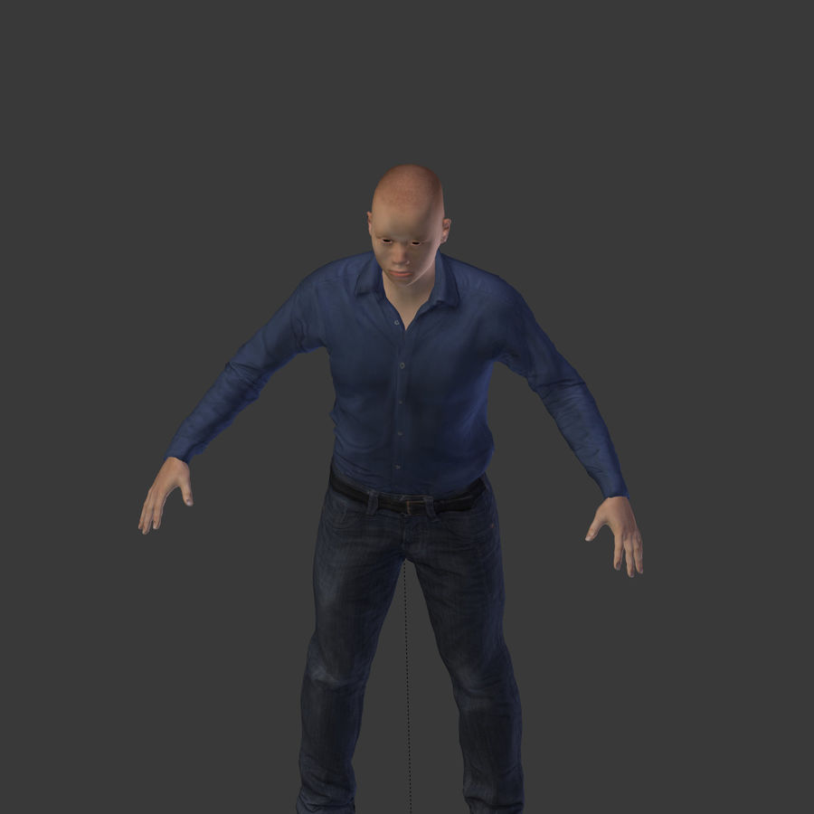 Young Businessman royalty-free 3d model - Preview no. 21