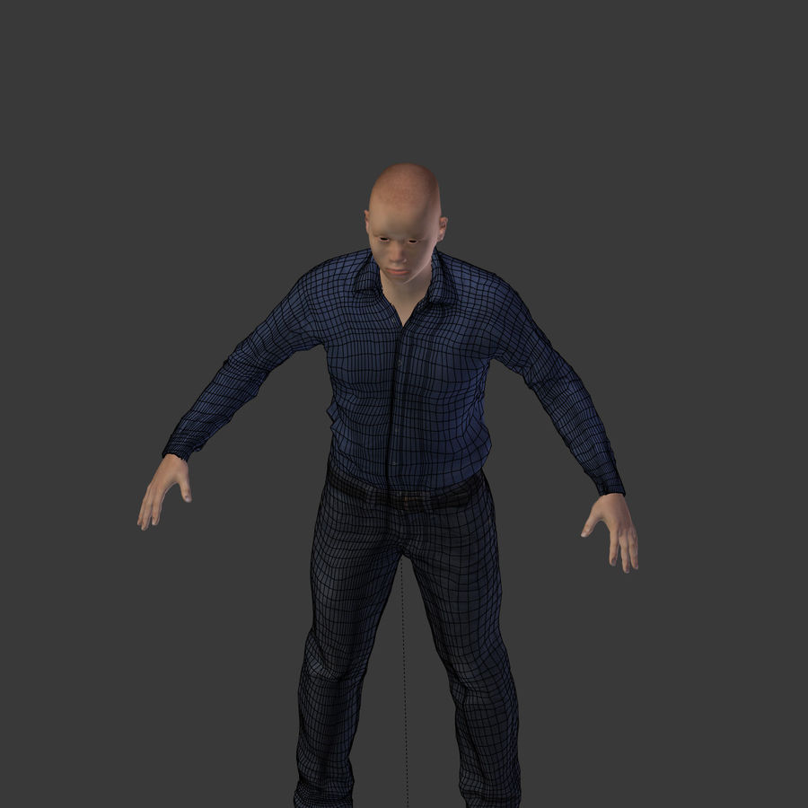 Young Businessman royalty-free 3d model - Preview no. 22