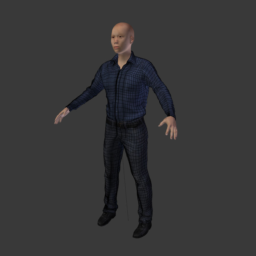 Young Businessman royalty-free 3d model - Preview no. 9