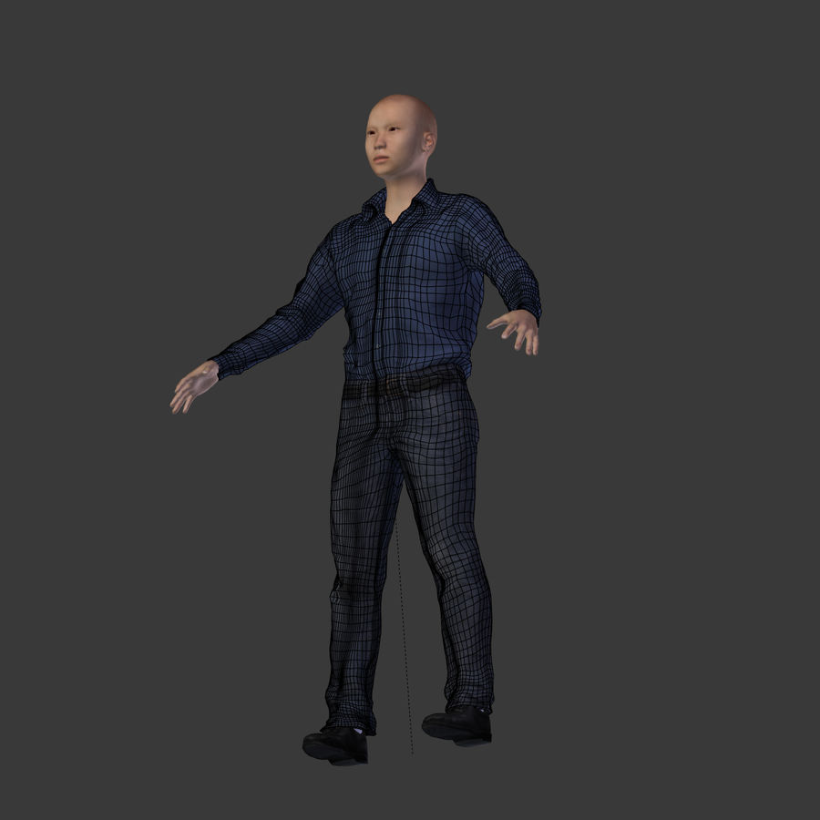 Young Businessman royalty-free 3d model - Preview no. 20