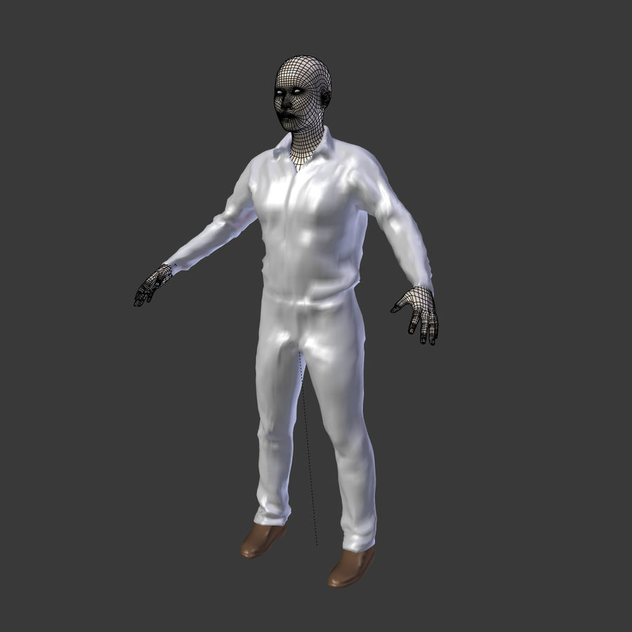Young Businessman royalty-free 3d model - Preview no. 11