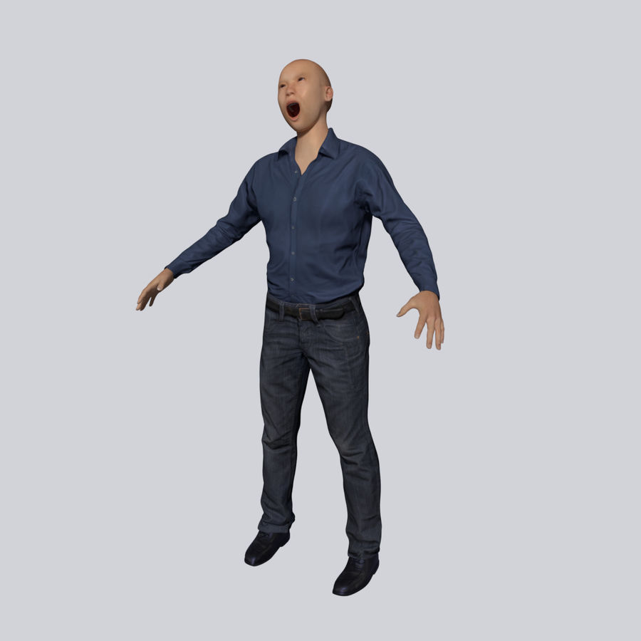 Young Businessman royalty-free 3d model - Preview no. 2