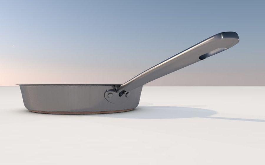 frituurpan royalty-free 3d model - Preview no. 2