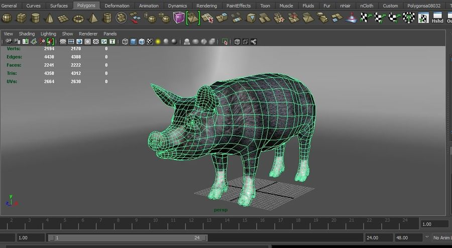pig royalty-free 3d model - Preview no. 14