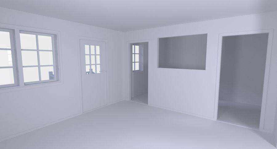 House Three With Interior 3d Model 19 Obj Fbx Dae