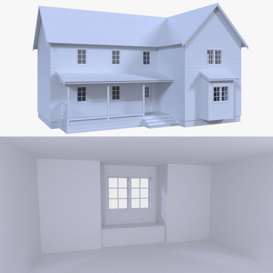 Maison trois avec intérieur modèle 3D $19 - .obj .fbx .dae ...