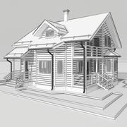목조 주택 4 3d model