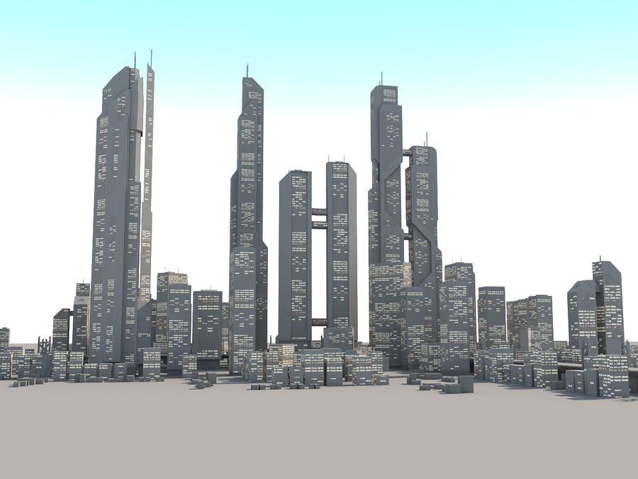 SC_CITY_01 royalty-free 3d model - Preview no. 4