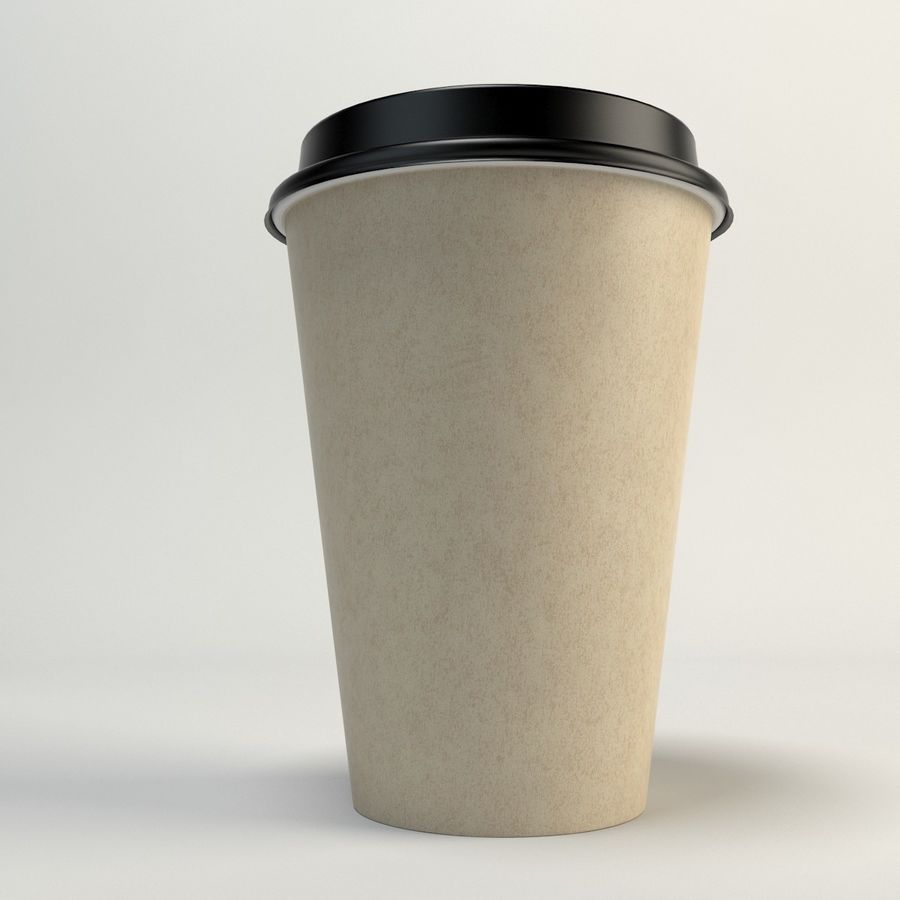 Coffee Cup Empty Takeout royalty-free 3d model - Preview no. 11
