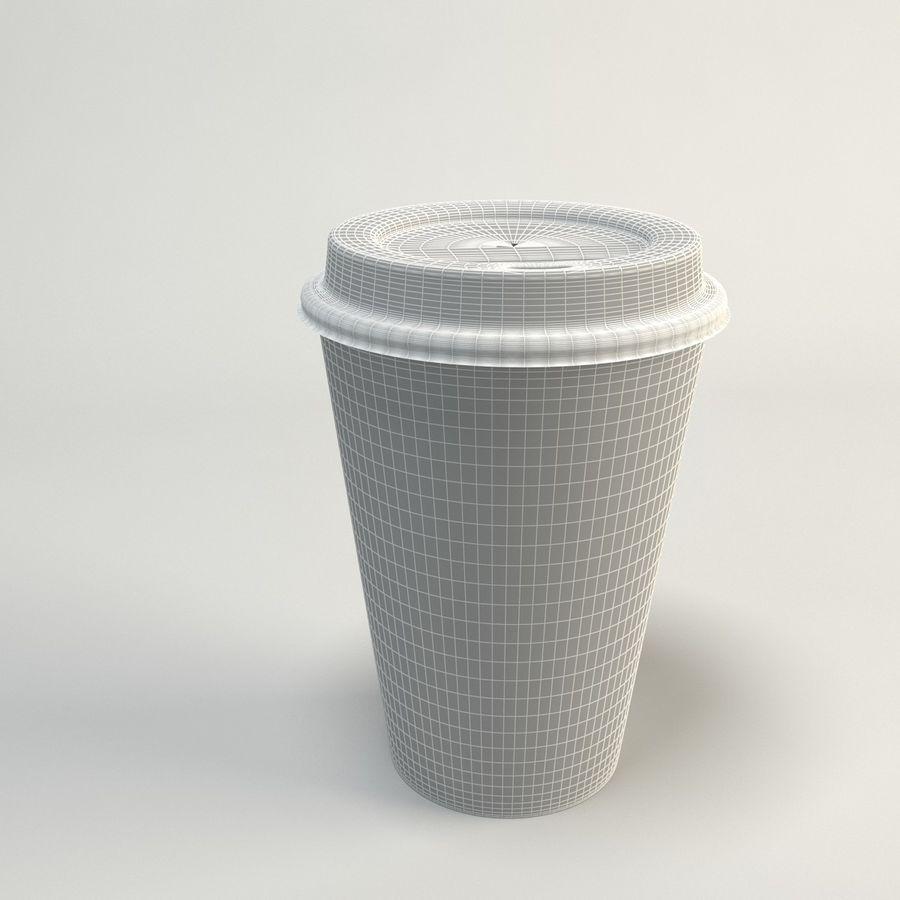 コーヒーカップの空のテイクアウト royalty-free 3d model - Preview no. 10