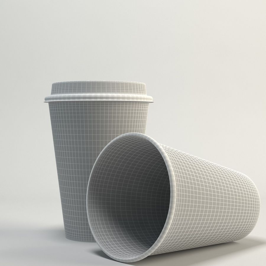 Coffee Cup Empty Takeout royalty-free 3d model - Preview no. 4