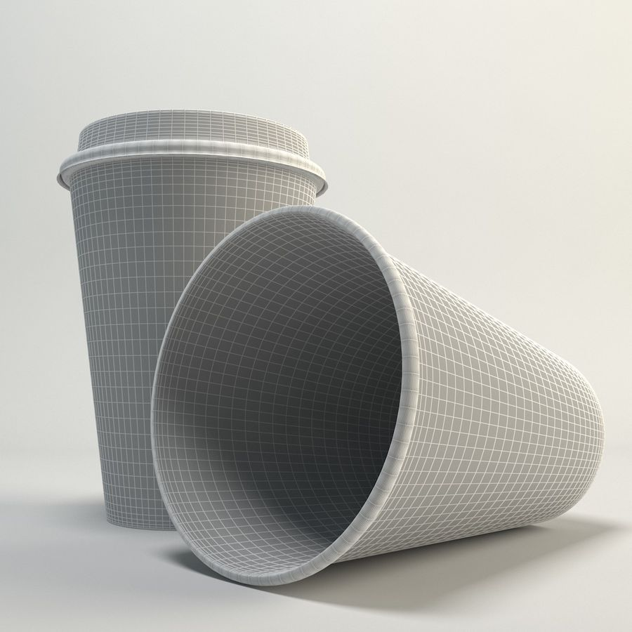 Coffee Cup Empty Takeout royalty-free 3d model - Preview no. 6