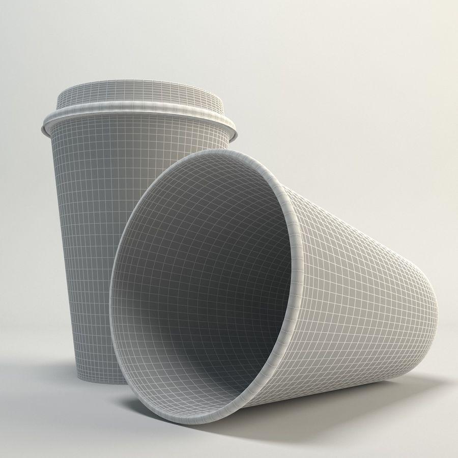 コーヒーカップの空のテイクアウト royalty-free 3d model - Preview no. 6