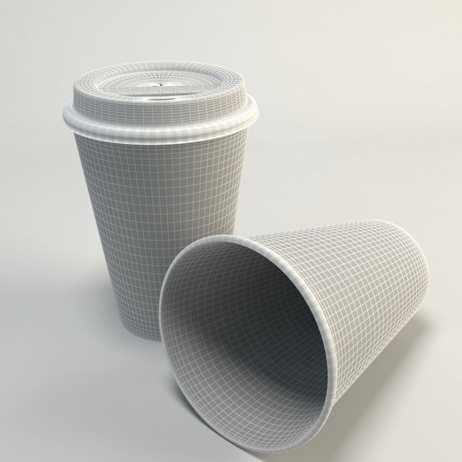 Coffee Cup Empty Takeout royalty-free 3d model - Preview no. 2
