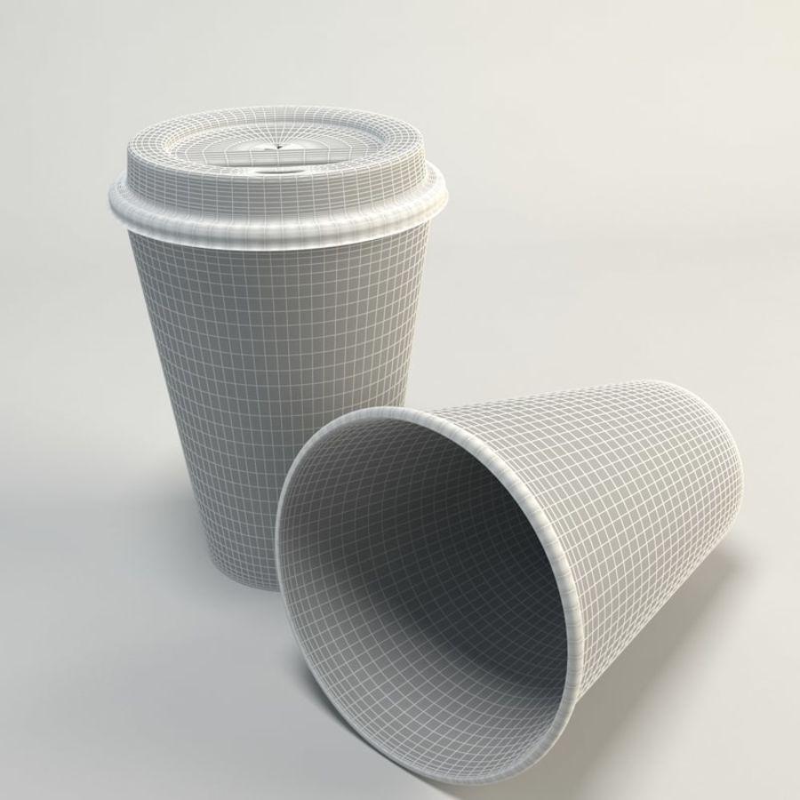コーヒーカップの空のテイクアウト royalty-free 3d model - Preview no. 2