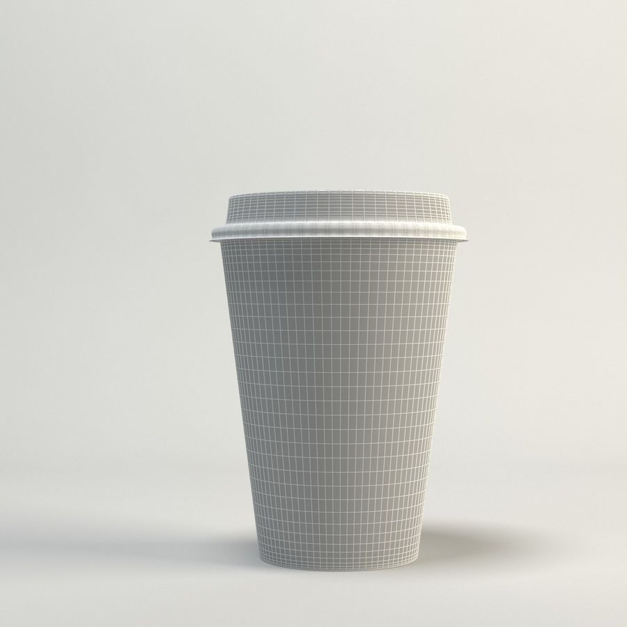 Coffee Cup Empty Takeout royalty-free 3d model - Preview no. 8