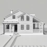 Wooden house 9 3d model