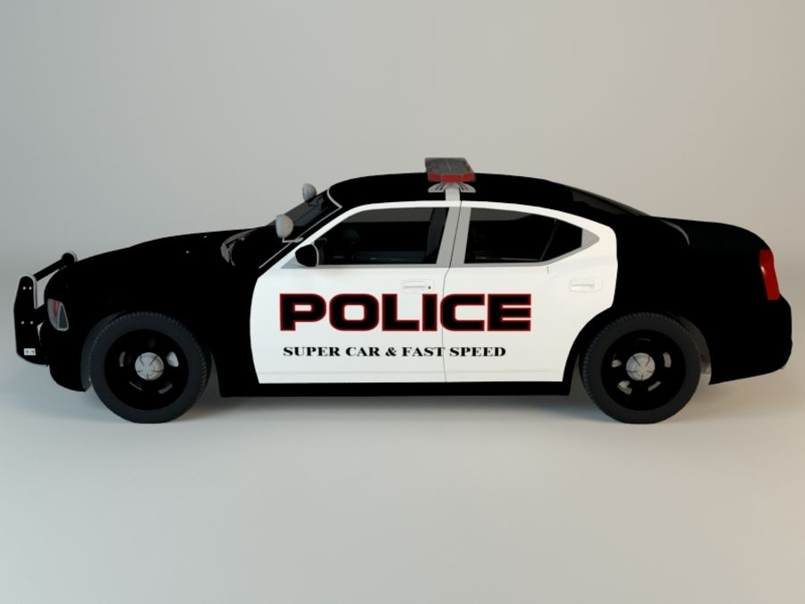 Polizei-Superauto royalty-free 3d model - Preview no. 4