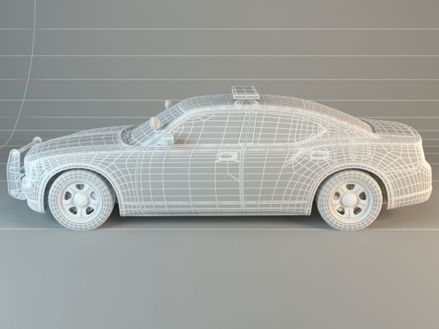 Polizei-Superauto royalty-free 3d model - Preview no. 6