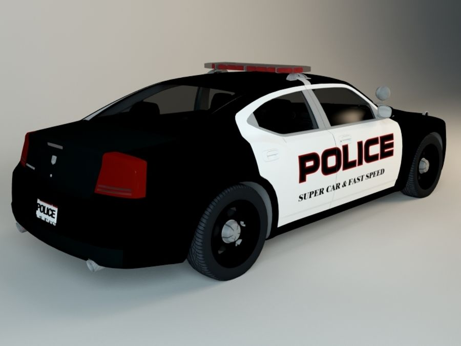 Polizei-Superauto royalty-free 3d model - Preview no. 2