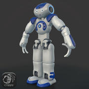HD Robot NAO low poly 3d model
