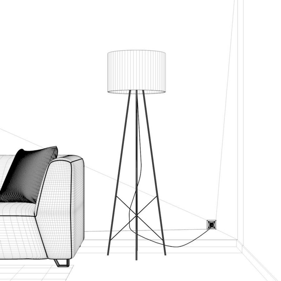 Oturma odası royalty-free 3d model - Preview no. 8