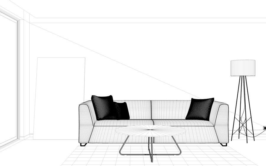 Oturma odası royalty-free 3d model - Preview no. 7