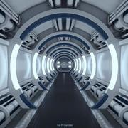 Sci Fi Spaceship Corridor 3d model