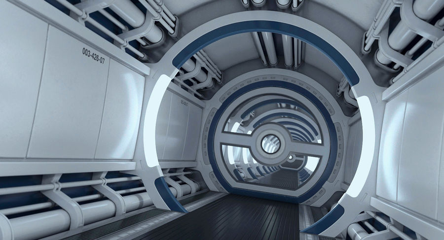 Sci Fi Spaceship Corridor royalty-free 3d model - Preview no. 12