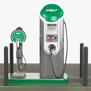 Electric Car Charging Station 3d model