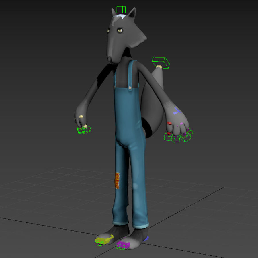 Cartoon Wolf royalty-free 3d model - Preview no. 7