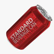 330ml 11.3oz Standard Beverage Can 3d model