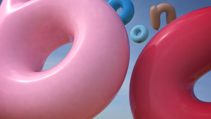 Balloon Alphabet lower cases royalty-free 3d model - Preview no. 7