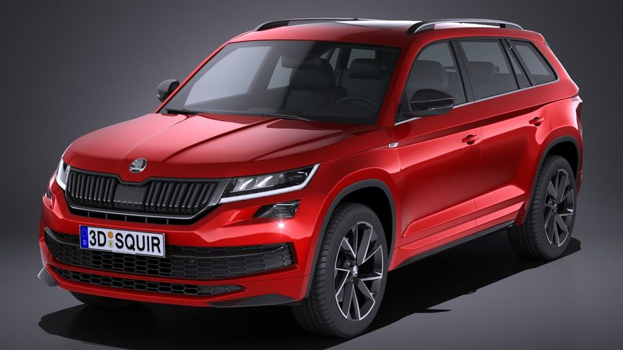 skoda kodiaq sportline 2018 3d model 129 obj max lwo fbx c4d 3ds free3d. Black Bedroom Furniture Sets. Home Design Ideas