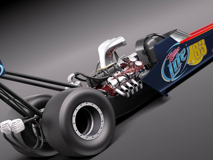 Top Fuel Dragster 3D Model $199 - .obj .max .lwo .fbx .c4d .3ds - Free3D