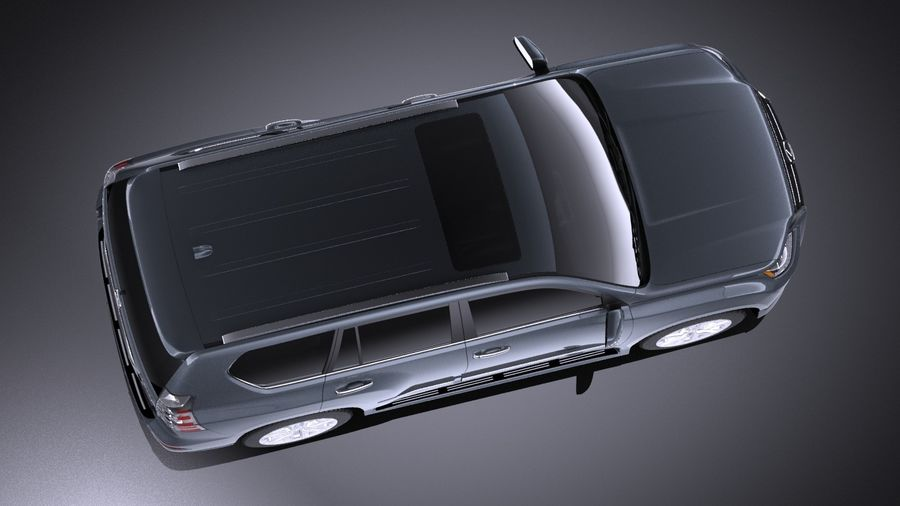 Lexus GX 460 2016 VRAY royalty-free 3d model - Preview no. 8