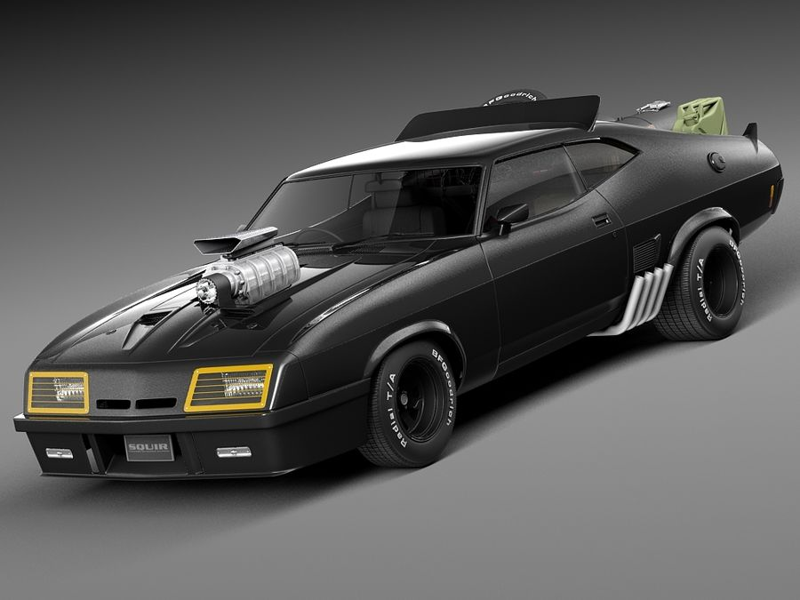 Mad Max Interceptor movie car royalty-free 3d model - Preview no. 1