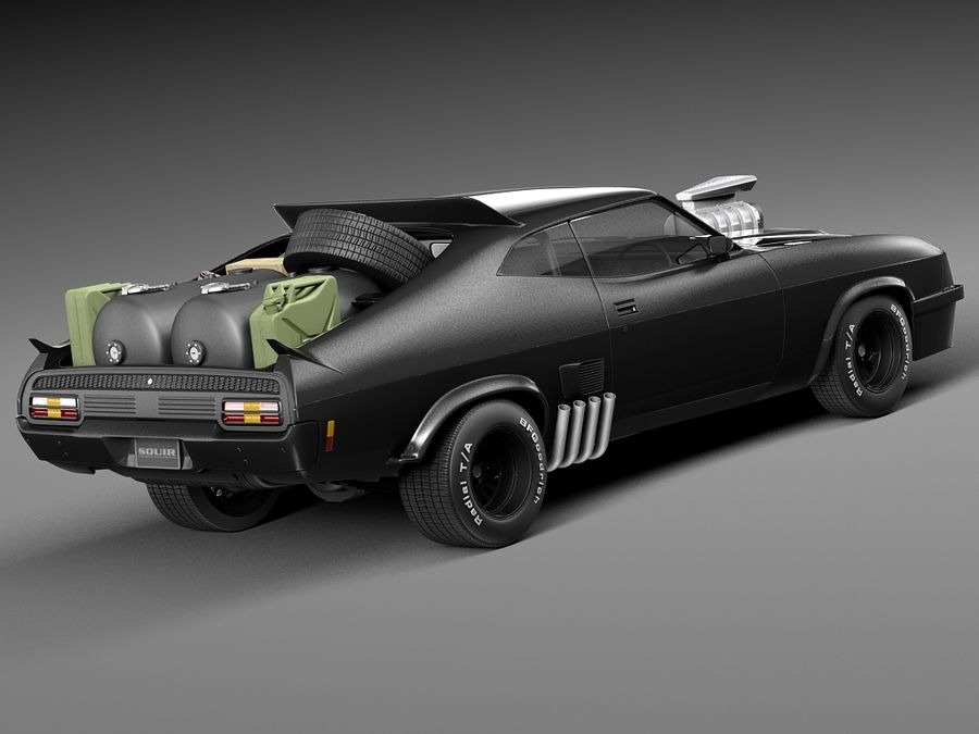 Mad Max Interceptor movie car royalty-free 3d model - Preview no. 5