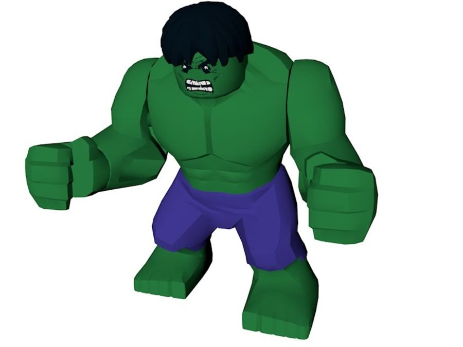LEGO Hulk Figure royalty-free 3d model - Preview no. 1