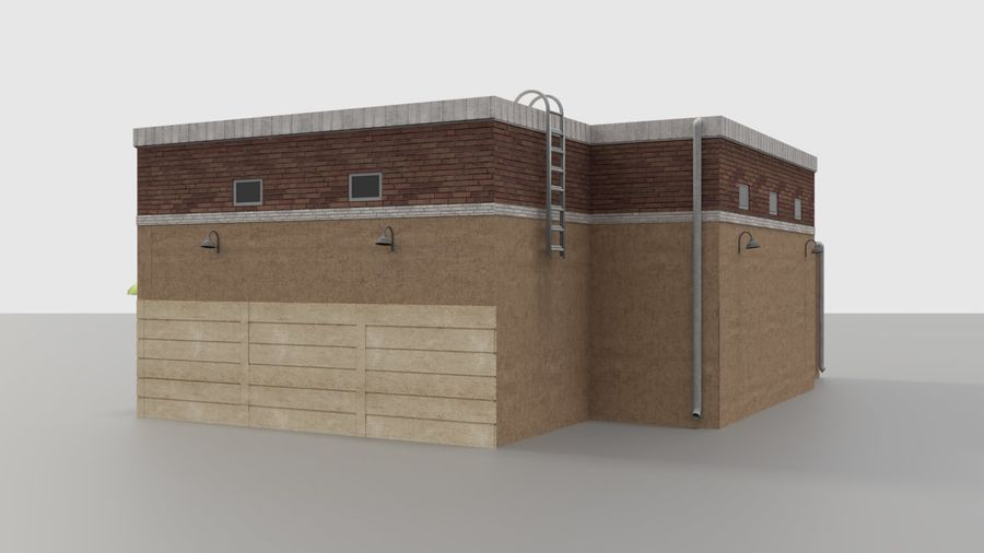 Warehouse asset royalty-free 3d model - Preview no. 4